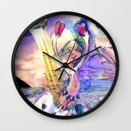 Arrival of Jester B. Wall Clock