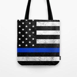 Thin Blue Line Flag 2 Tote Bag