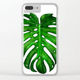 Monstera Leaf Paintings Clear iPhone Case