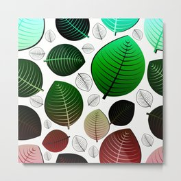 Bold Leaf Design Metal Print