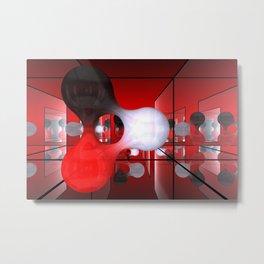 reflected blob Metal Print