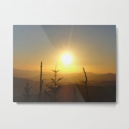 Sunset in the Smoky Mountains Metal Print