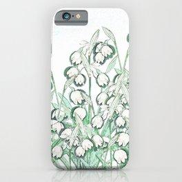 Snowdrop Spring II iPhone Case