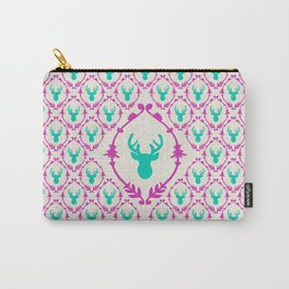 Oh Deer (teal) Carry-All Pouch