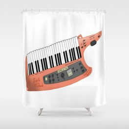 How Cool Can A Keytar Get? Shower Curtain
