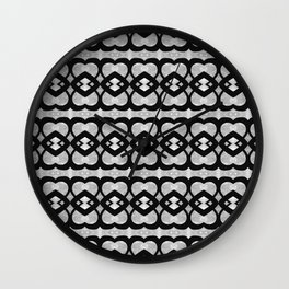 Heartlines gray pattern Wall Clock