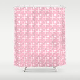 Abstract modern blush pink white geometric pattern Shower Curtain