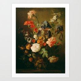 Warm Floral Still Life Painting Print Art Print