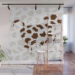 Brown Cow Spots Pattern Wall Mural
