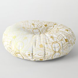 Mystical Oriental Floral Lotuses Boho Bohemian Hipster Floor Pillow
