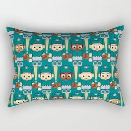 Baseball Teal and Grey - Super cute sports stars Rectangular Pillow