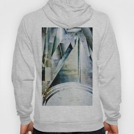 The Bars Within Abstract Metal Seascape Hoody