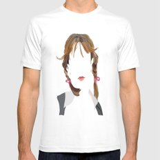 Britney White Mens Fitted Tee MEDIUM