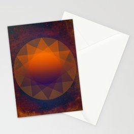 Merkaba, Abstract Geometric Shapes Stationery Cards