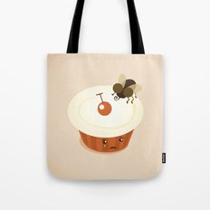 Fly on a Cupcake Tote Bag
