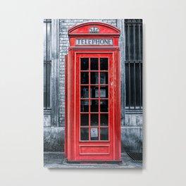 London - Telephone booth alone Metal Print