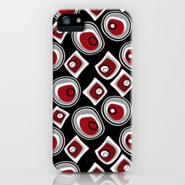 """Abstraction. """"Pebbles """" on a black background . iPhone Case"""