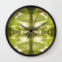 beth hoeckel Wall Clocks featuring Beth by FYLLAYTA, surface design,Tina Olsson