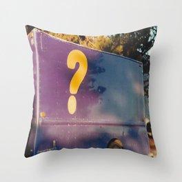 ? - shot with a film camera Throw Pillow