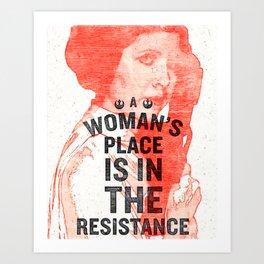 Resistance Leia Art Print