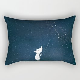 Lupus - Polar Wolf Constellation Rectangular Pillow