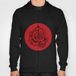 Red Rose Round Hoody