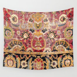 Esfahan Central Persian 17th Century Fragment Print Wall Tapestry