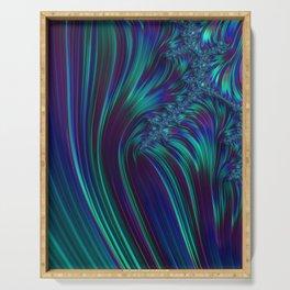 CRASH vivid jewel tones of sapphire blue & emerald green Serving Tray