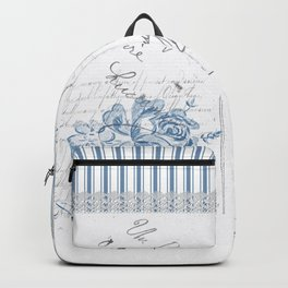 Lucienne in Blue Backpack