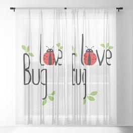 Love Bug Sheer Curtain