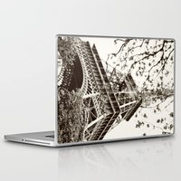 eiffel tower Laptop & iPad Skins featuring Eiffel Tower by Linde Townsend