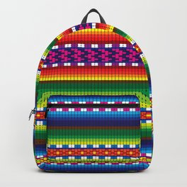 Colorful Woven South American Pattern Backpack
