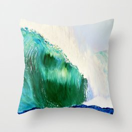 billys wave Throw Pillow