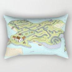 Eagle Island Maze Rectangular Pillow