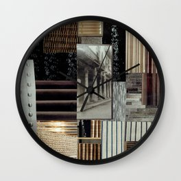 Collage - Lines Wall Clock