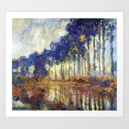 Poplars on the Bank of the Epte River by Claude Monet Art Print