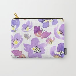 Purple Geranium Carry-All Pouch