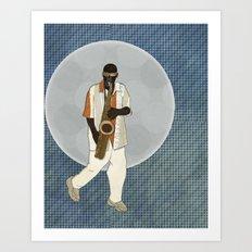 Saxophone Musician Art Print