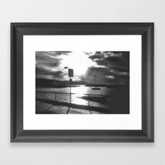 Morning awakes the Harbour Framed Art Print