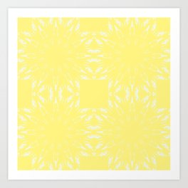 Lemon Yellow Color Burst Art Print
