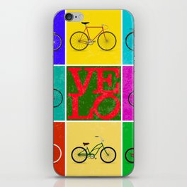 Velo Love – 8 Bikes PoP – June 12th – 200th Birthday of the Bicycle iPhone Skin