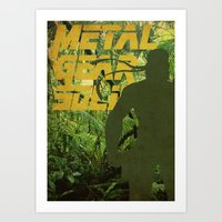 metal gear solid Art Prints featuring Metal Gear Solid: Jungle by Diego Elola Portilla