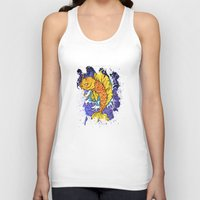 koi fish Tank Tops featuring Koi Fish by Spooky Dooky