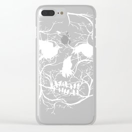 Death Skull Tree Bird Banksy Street Art Graffiti Stencil Clear iPhone Case