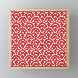 Fan Pattern Red 118 Framed Mini Art Print
