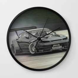 Drifting Car II Wall Clock