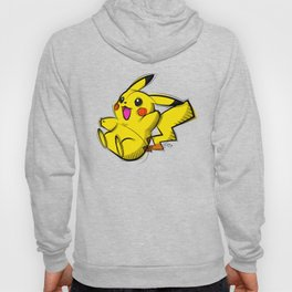 Pika Digital Drawing, Cartoon Art, PokemonArt, Nintendo Art Hoody