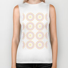 Numerous circles forming an abstract pattern on white background Biker Tank