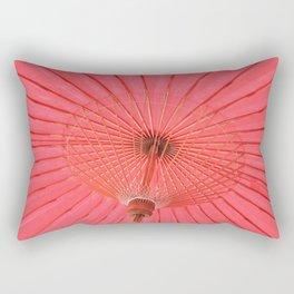 Red umbrella Rectangular Pillow