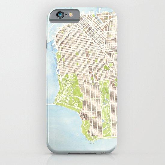 San Francisco CA City Map  iPhone & iPod Case